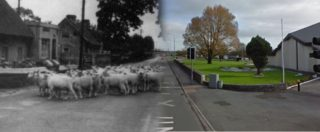 Claregalway Village 1950's vs Present | Claregalway Historical Society, CC-BY-NC-ND