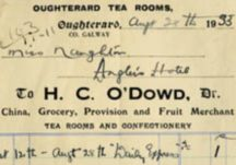 Tea Room Receipt 1933