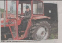 Jim is tractor driving, dancing and biking at 100