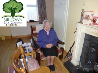 Attracta Farragher in her home in Russelstown. December 2015 | Milltown Heritage Group