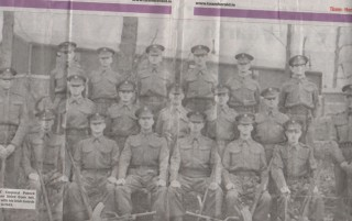 LANCE Corporal Patrick Brennan ( third from left, front) with his Irish Guards squard in 1943.