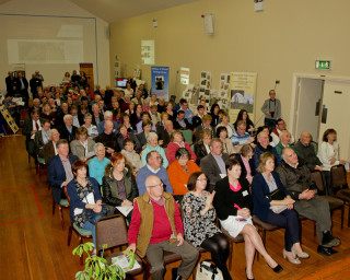 Moylough Community Centre was packed for the launch | Courtesy of Gerry Costello