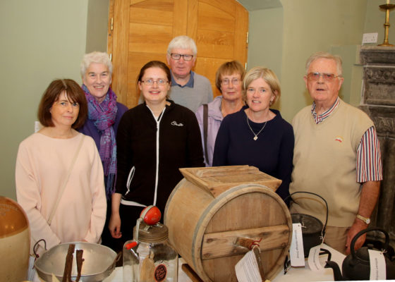 Deirdre McDonnell, Margaret Marlow, Pauline Connolly, Tony and Frances Murphy, County Heritage Officer Marie Mannion and Frank Glynn from Milltown at the Galway's Gastronomy Project launch organised by Galway County Heritage at Claregalway Castle | Photo by Hany Marzouk