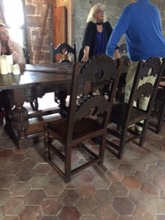 Dining table in the hall of the castle | Deirdre McDonnell
