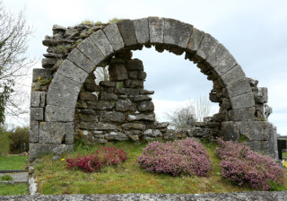Part of the old church at Killascobe Graveyard