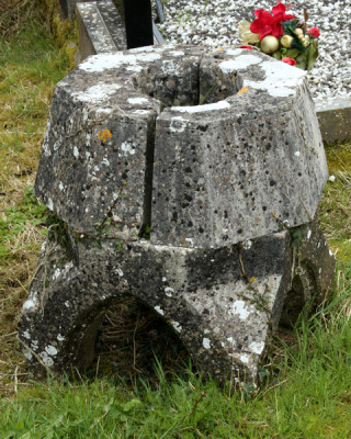 Font from old church at Killascobe Graveyard