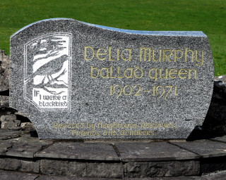 Inscription on the Monument to Delia Murphy at Roundfort, Co. Mayo | © Gerry Costello Photography