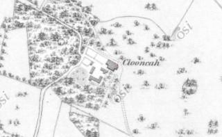 1st Edition Ordnance Survey map showing Clooncah Estate | http://maps.osi.ie/publicviewer/#V2,562948,730912,7,8
