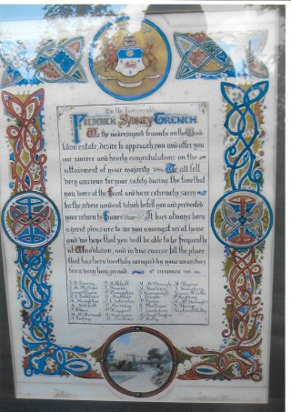 Scroll presented on 21st Birthday | Courtesy of Roderick Trench