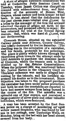 Nenagh News 1905 | Tom McDonough
