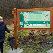 Marie Mannion, Heritage Officer launches Woodlawn Nature Trail