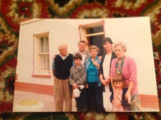 Joe and Mae Hawkins, with family members, Beech Hill | Courtesy of Gabrielle Leslie