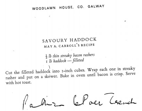 Savoury Haddock Recipe from Irish Country House Cooking | Courtesy of Justin Dillon