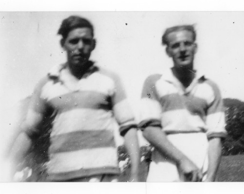 Two players from the mid 50s - Tony Hodgins and Algie Abberton