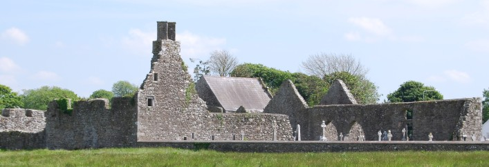 Back view of Kilnalahan Monastery, Abbey, Loughrea