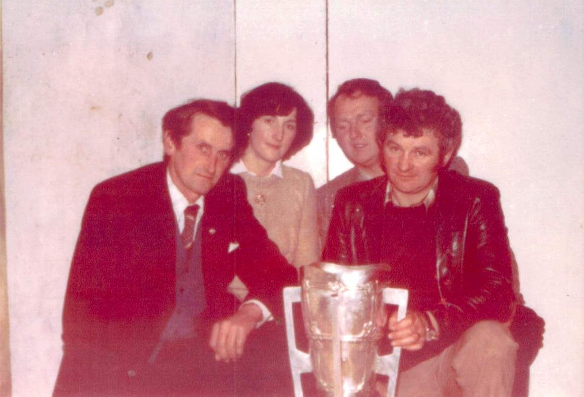 Celebrating Galway's victory in 1980 with the Liam McCarthy cup