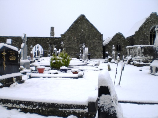 Kilnalahan Abbey in the Snow - January 2015