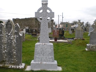 Headstone on Tommy Larkin's grave in Abbey Cemetery | F Holohan
