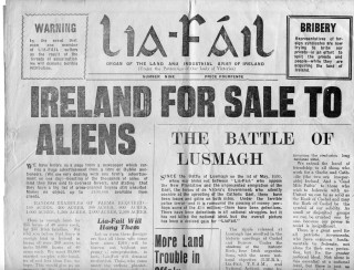 The Lia-Fáil Newspaper founded by Fr John Fahy. | Photo courtesy John Holohan