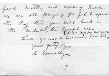 Letter from Mrs James Connolly