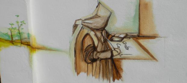 Carthusian Monk at Work