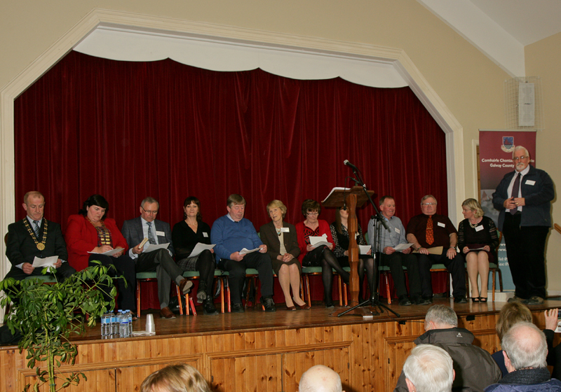 Speakers at the Official Launch of the iCAN project in Moylough Heritage Centre