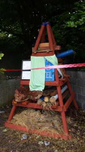 Bug Hotel at Monivea National School. Photo Elaine O'Riordan