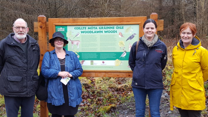 Launch of the Nature trail  - Alf Seale, Carrie O'Sullivan, Catherine Seale, Bernadette Doherty | Catherine Seale
