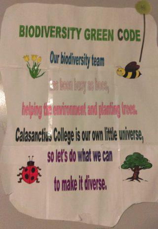 Calasanctius Biodiversity Motto | Aine Clarke