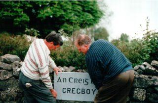 Cregboy Name Stone, 1996 | Josette Farrell, Claregalway.info