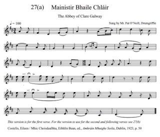 Mainister Bhaile Chláir Verse 1