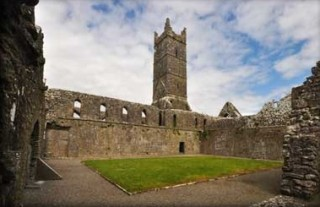 Claregalway Friary Cloister | megalithicireland.com CC BY-NC-ND