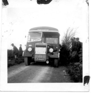 Transporting the Montiagh migrants to County Kildare in 1960's Claregalway - Parish History Pictorial, 2002 | Claregalway Parish History Pictorial, 2002 CC-BY-NC-ND