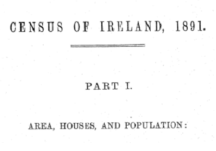 Census of Ireland for the Year 1891