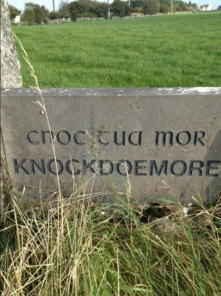 Knockdoemore Name Stone, 1996 | Josette Farrell, Claregalway.info