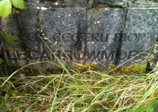 Lecarrowmore Name Stone, 1996   Josette Farrell, Claregalway.info