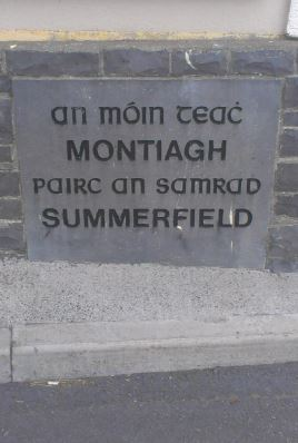 Montiagh Name Stone, 1996 | Josette Farrell, Claregalway.info