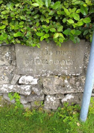 Gortadooey name stone, 1996 | Josette Farrell, Claregalway.info