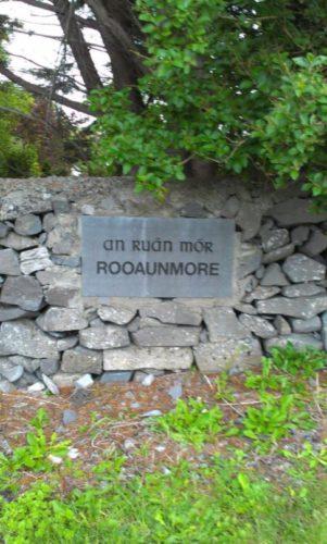 Rooaunmore Name Stone, 1996 | Josette Farrell, Claregalway.info