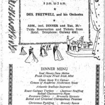 Christmas Dinner and Dance Gala Menu 1961 | irishnewsarchives.com CC-BY-NC-ND