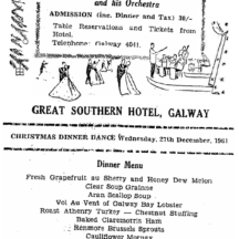 Christmas Dinner Dance Menu | irishnewsarchives.com, CC-BY-NC-ND