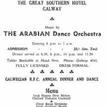 Galway R.F.C. Annual Dinner Dance 1961 | irishnewsarchives.com, CC-BY-NC-ND