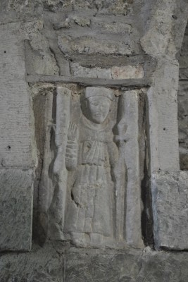 Effigy of St Francis in Meelick Franciscan friary. | Christy Cunniffe