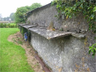 Ladder shelter in Ballymackward Church of Ireland graveyard. | Christy Cunniffe