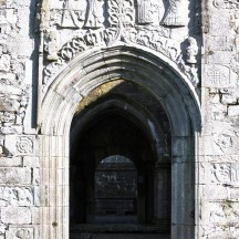 Clontuskert late medieval perpendicular doorway.   Christy Cunniffe