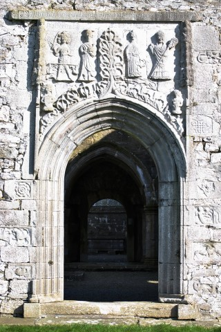 Clontuskert late medieval perpendicular doorway. | Christy Cunniffe