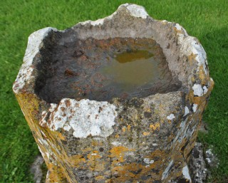 Bowl of font with damaged rim | Christy Cunniffe