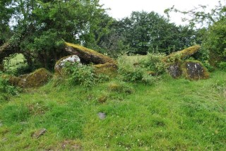 Wedge tomb side view showing the cap stone | Christy Cunniffe