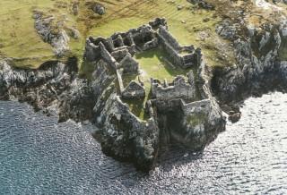 Cromwell's Barrack Port Island Inishbofin Co. Galway Ireland SMR Number: GA009D023 Aerial view. OSI Aerial Survey 1983-4   www.archaeology.ie