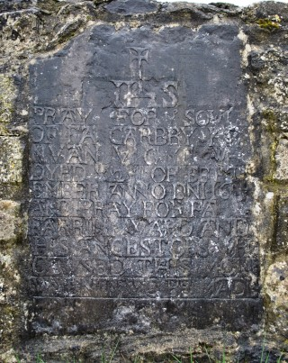 Mural plaque in the wall of Cloghanover graveyard near Headford. | Christy Cunniffe